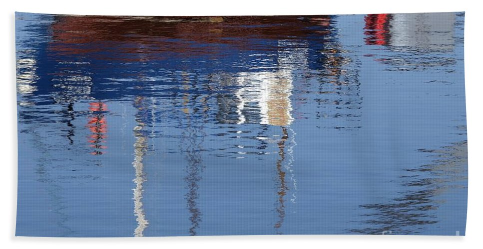 Floating Bath Sheet featuring the photograph Floating On Blue 21 by Wendy Wilton