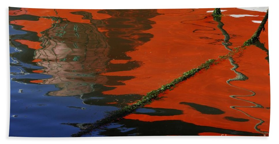 Floating On Blue 26 Hand Towel featuring the photograph Floating On Blue 26 by Wendy Wilton
