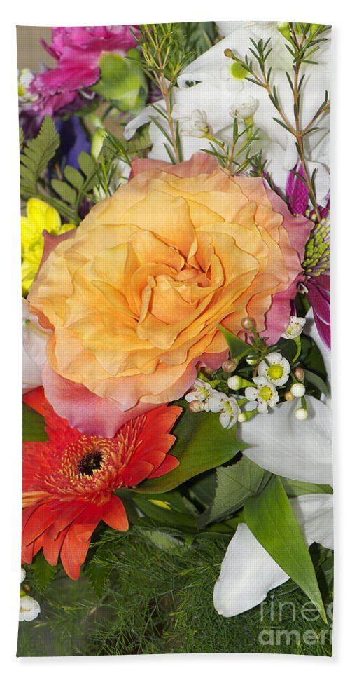 Flower Hand Towel featuring the photograph Floral Bouquet 3 by Sharon Talson