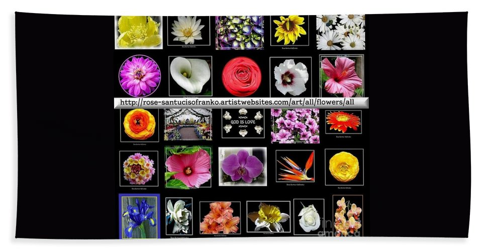 Flowers Hand Towel featuring the photograph Floral Composite Not For Sale by Rose Santuci-Sofranko