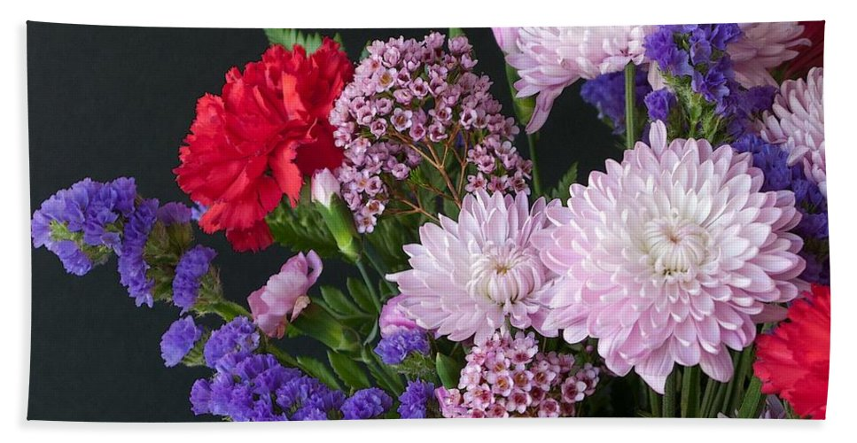Bouquet Hand Towel featuring the photograph Floral Mix by Ann Horn