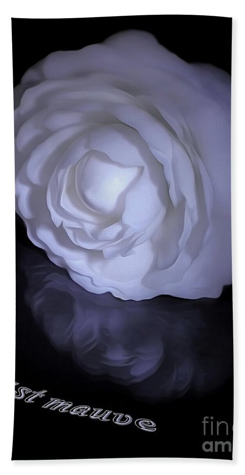 Photography Bath Sheet featuring the photograph Floral Reflections 4 - Camellia by Kaye Menner