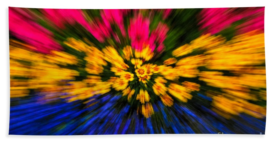 Floral Hand Towel featuring the photograph Floral Triple Zoom by Grace Grogan