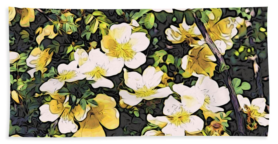Flowers Bath Sheet featuring the photograph Floral Yellow by Alice Gipson