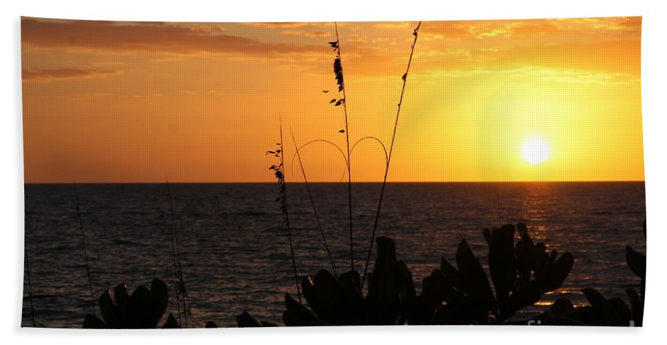 Sundown Hand Towel featuring the photograph Florida Delight by Christiane Schulze Art And Photography