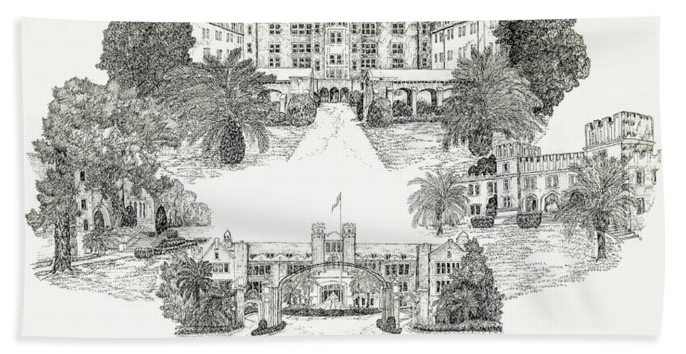 Illustrations Hand Towel featuring the digital art Florida State University by Jessica Bryant