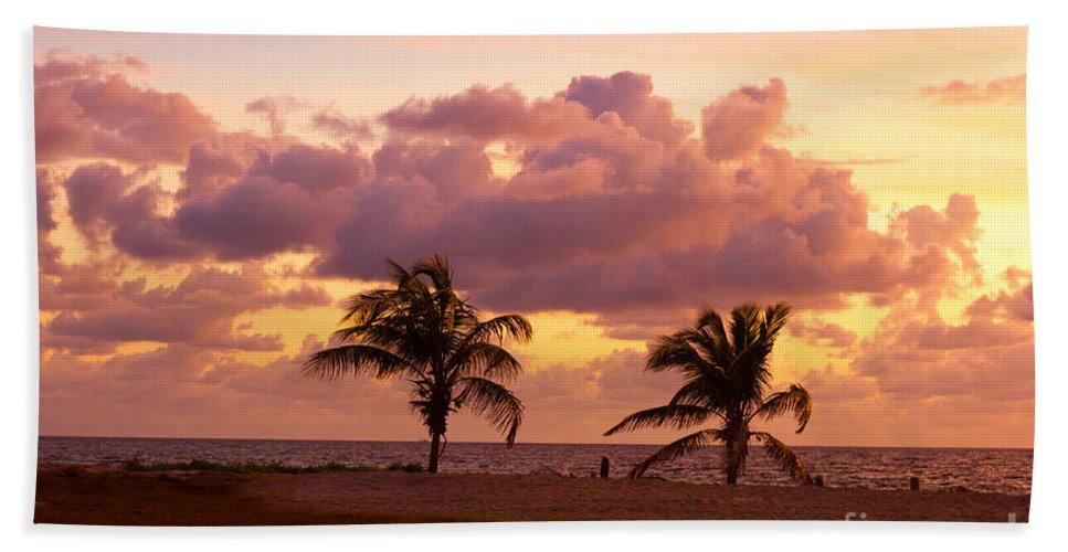 Florida Hand Towel featuring the photograph Florida Sunrise by Les Palenik