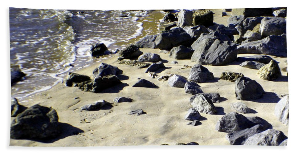 Beach Hand Towel featuring the photograph Florida Town Beach by Mechala Matthews