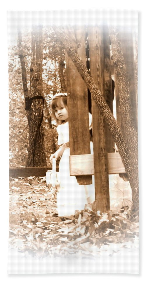 Flower Girl Hand Towel featuring the photograph Flower Girl by Travis Truelove