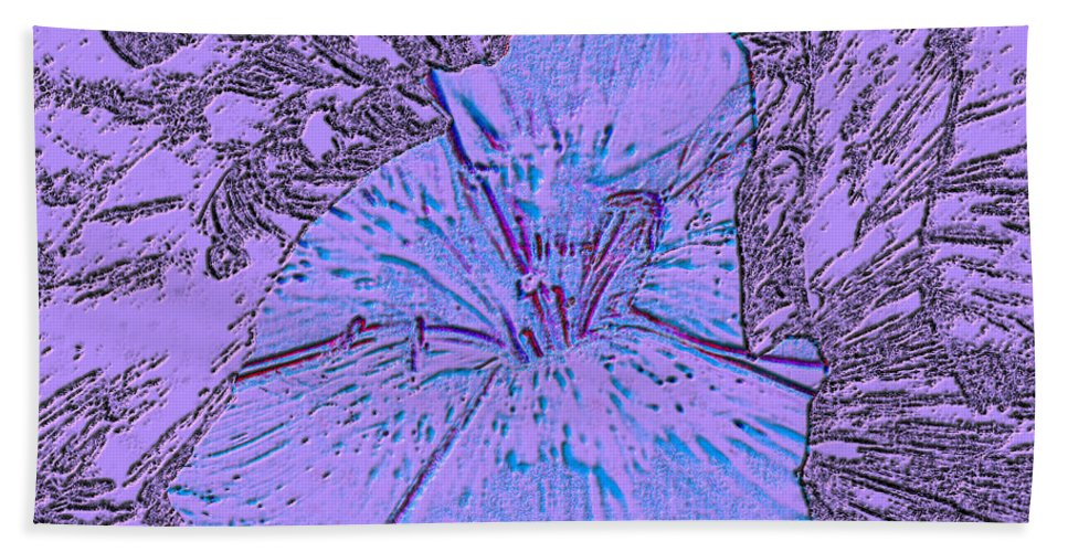 Celebrate Hand Towel featuring the digital art Flower Of Purple by Sergey Bezhinets