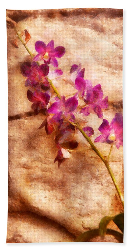 Orchid Bath Sheet featuring the photograph Flower - Orchid - Just Splendid by Mike Savad