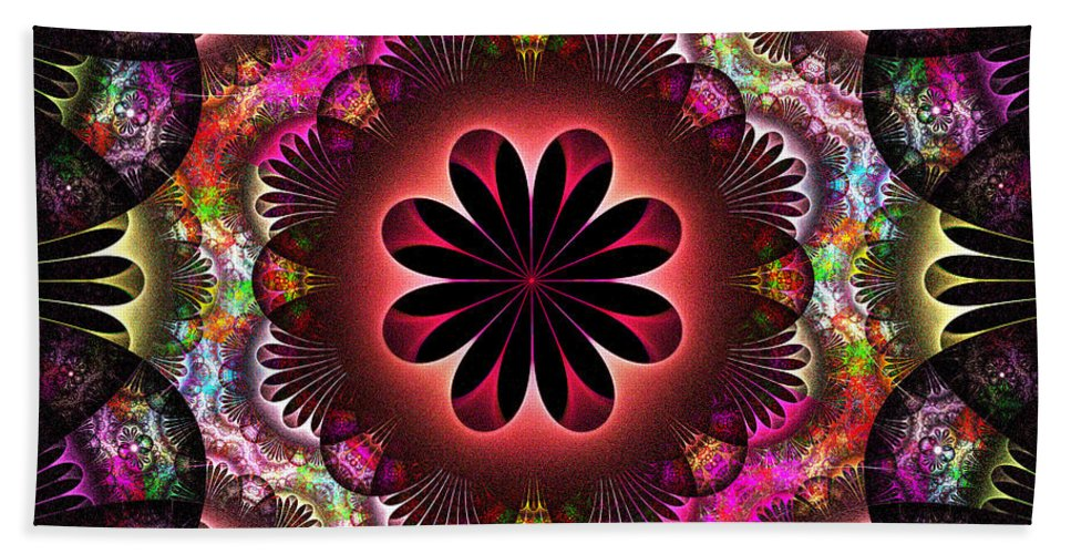 Fractal Bath Sheet featuring the digital art Flower Power by Sandy Keeton