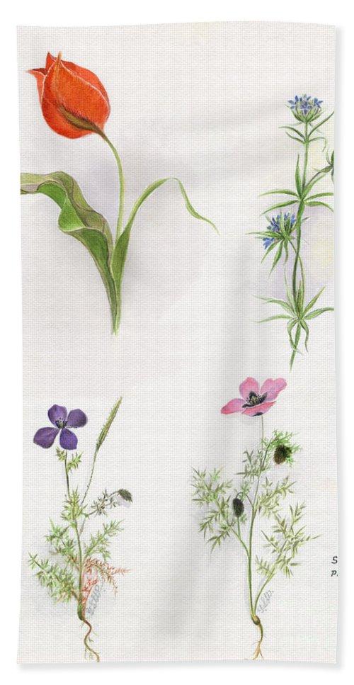 Flower Bath Sheet featuring the photograph Flowers 1931 by Granger