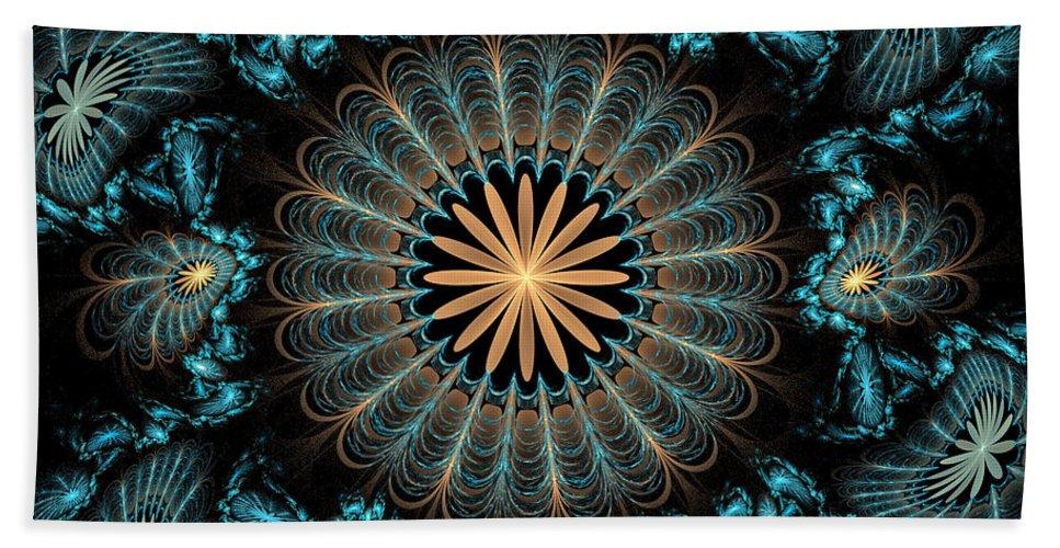 Fractal Hand Towel featuring the digital art Flowers 2 by Sandy Keeton