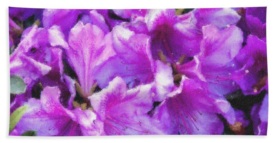 Flowers Bath Towel featuring the digital art Flowers 2078 Pastel Chalk 2 by David Lange