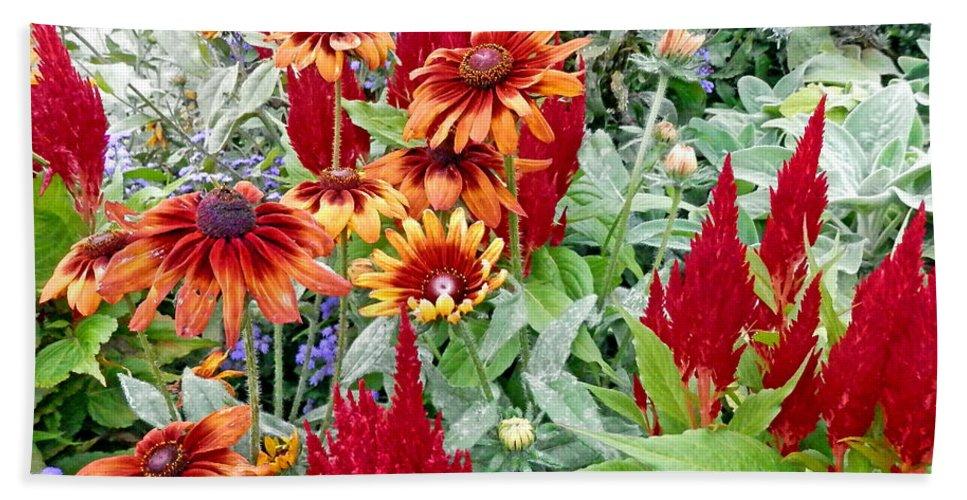 Duane Mccullough Bath Sheet featuring the photograph Flowers Galore by Duane McCullough