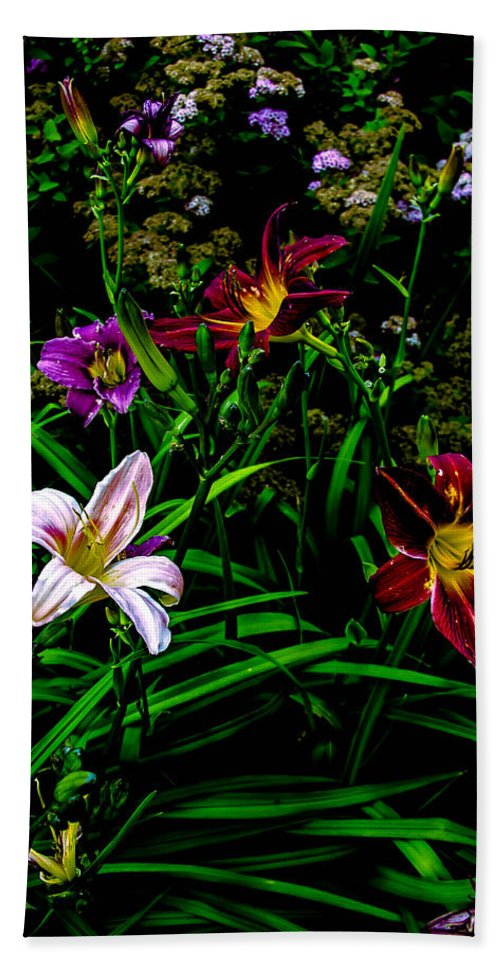 Flowers Hand Towel featuring the photograph Flowers In The Garden 2 by Sherman Perry
