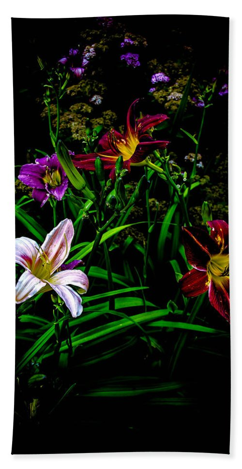 Flower Bath Sheet featuring the photograph Flowers In The Garden by Sherman Perry