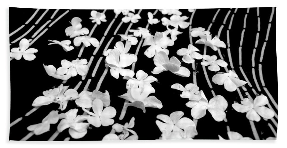 Blossoms Bath Sheet featuring the photograph Flowery Flow by Vanessa Thomas