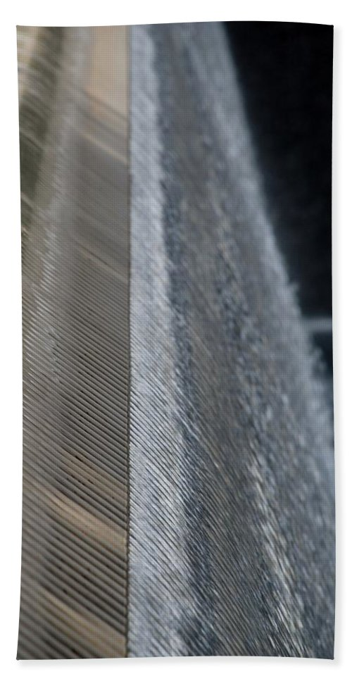 Wtc Hand Towel featuring the photograph Fluted Water by Rob Hans