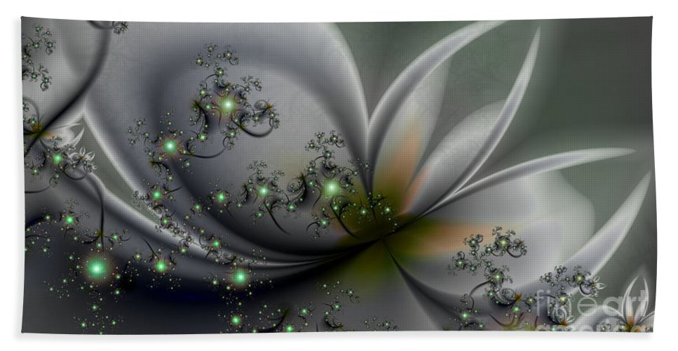 Flutterby Hand Towel featuring the digital art Flutterby by Kimberly Hansen
