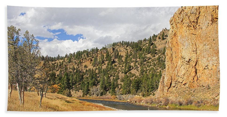 Fly Fish Bath Sheet featuring the photograph Fly Fishing The Big Hole River Montana by Jennie Marie Schell