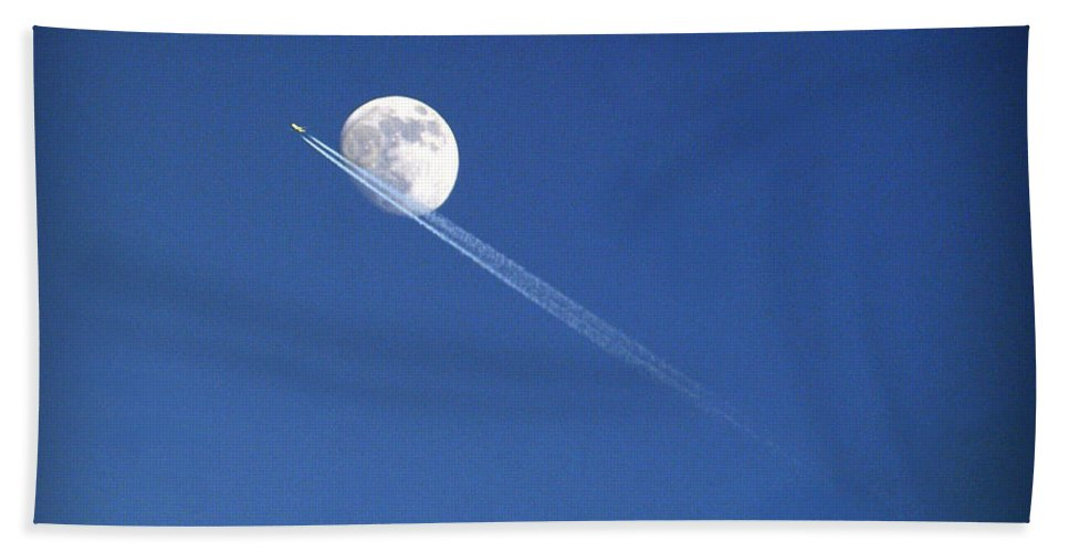 Moon Hand Towel featuring the photograph Fly Me To The Moon by Cricket Hackmann