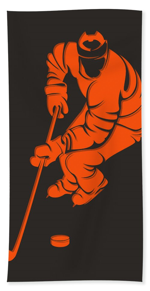 Flyers Hand Towel featuring the photograph Flyers Shadow Player3 by Joe Hamilton