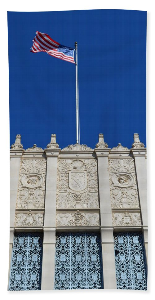 Architecture Hand Towel featuring the photograph Flying High by Shawn Marlow