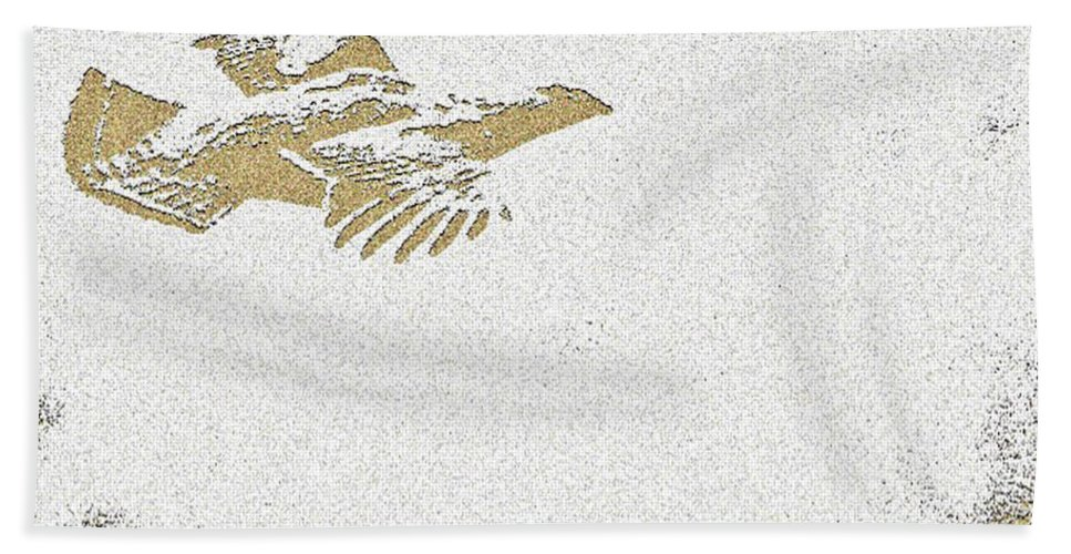Grouse Hand Towel featuring the photograph Flying Ruffed Grouse Thank You by Timothy Flanigan