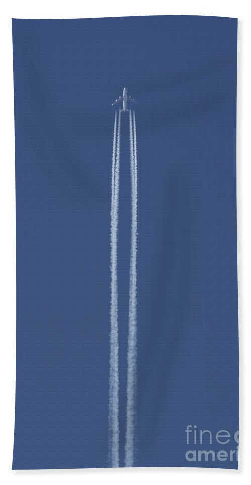 Blue Hand Towel featuring the photograph Flying Up by Michal Boubin