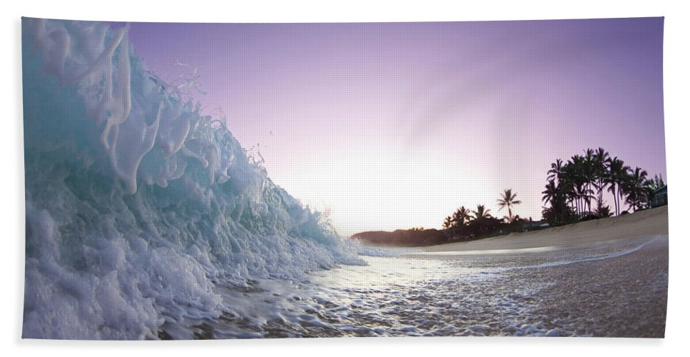 Sea Hand Towel featuring the photograph Foam Wall by Sean Davey