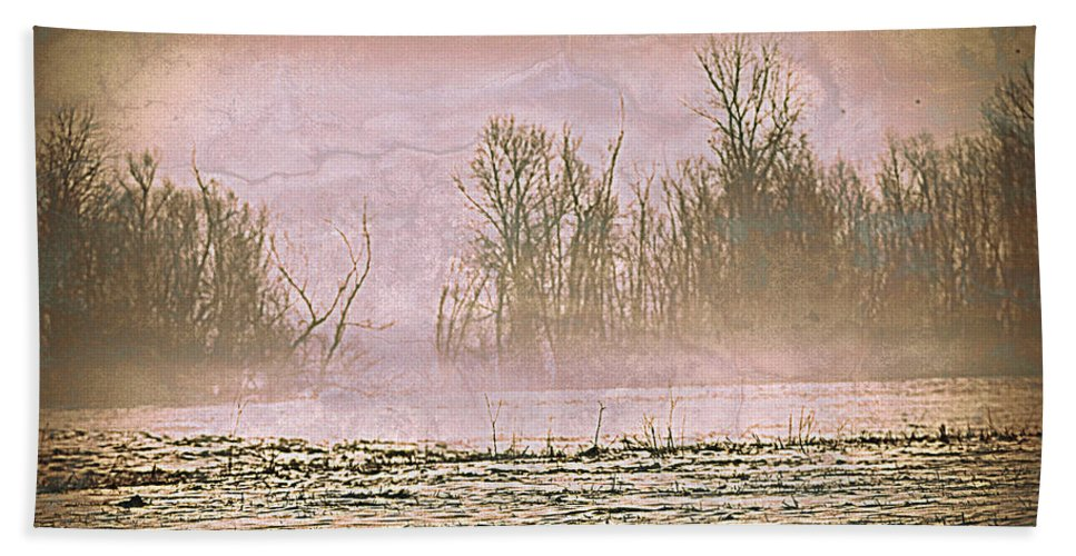 Landscape Hand Towel featuring the photograph Fog Abstract 2 by Marty Koch