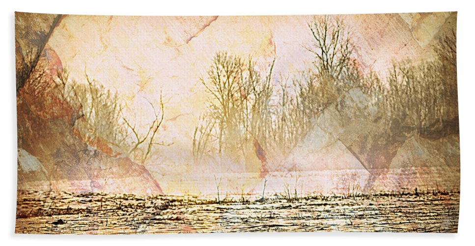 Landscape Hand Towel featuring the photograph Fog Abstract 4 by Marty Koch