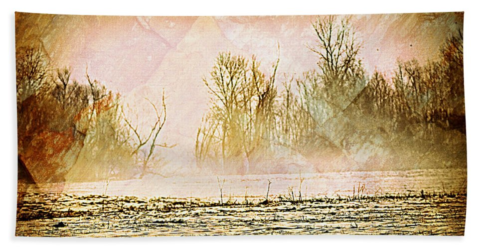 Landscape Hand Towel featuring the photograph Fog Abstract 5 by Marty Koch