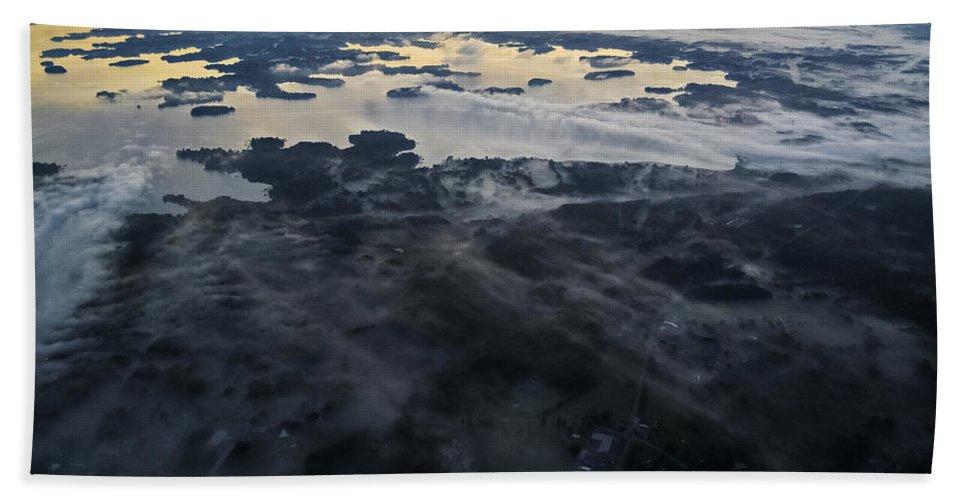 Lake Norman North Carolina Bath Sheet featuring the photograph Fog Over Lake Norman Nc II by Greg Reed