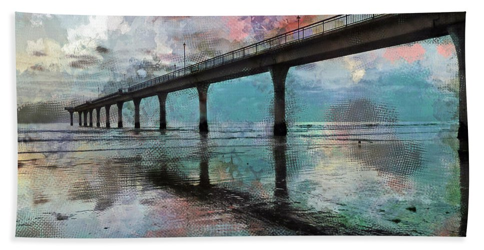 Twilight Bath Sheet featuring the photograph Fogged by Steve Taylor