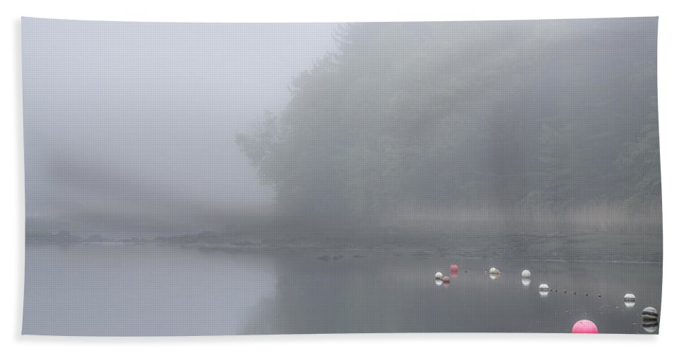 Fog Hand Towel featuring the photograph Foggy Morning Ipswich River by David Stone