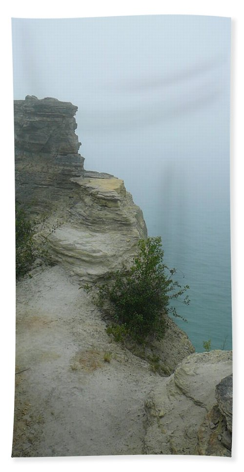 Upper Peninsula Bath Sheet featuring the photograph Foggy Overlook by Two Bridges North
