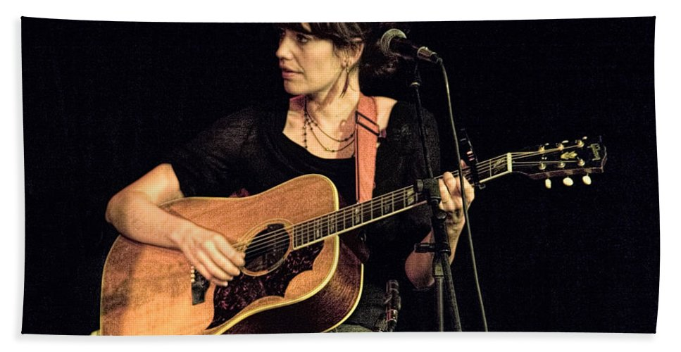 Art Hand Towel featuring the photograph Folk Singer Pieta Brown by Randall Nyhof
