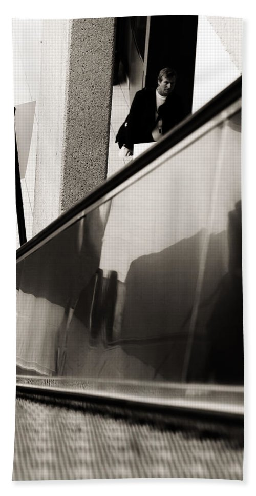 Street Photography Hand Towel featuring the photograph Follow Suit by The Artist Project