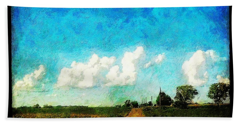 Clouds Hand Towel featuring the painting Follow the Leader by Sandy MacGowan