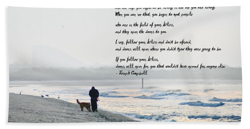 Follow Your Bliss Hand Towel featuring the photograph Follow Your Bliss by Bill Cannon