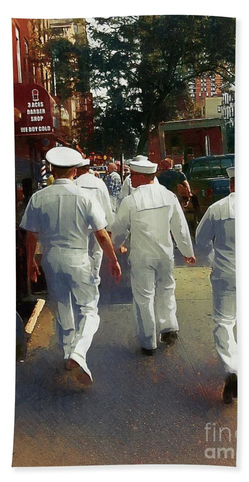Sailors Bath Sheet featuring the painting Following The Fleet by RC DeWinter