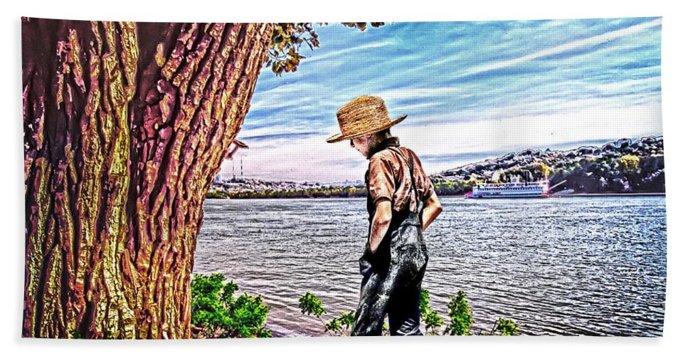 Following The River Hand Towel featuring the photograph Following The River by Randall Branham