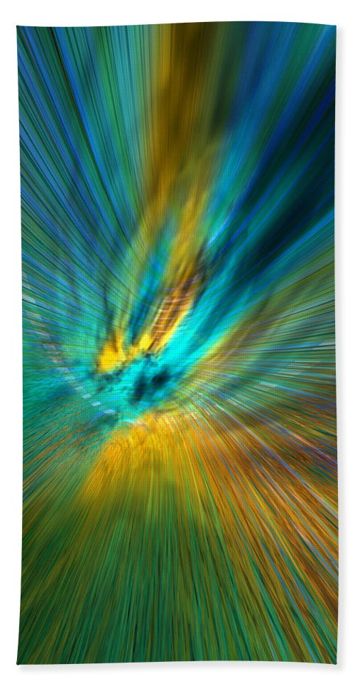 Abstract Hand Towel featuring the digital art Fooonswap 17 by Zac AlleyWalker Lowing