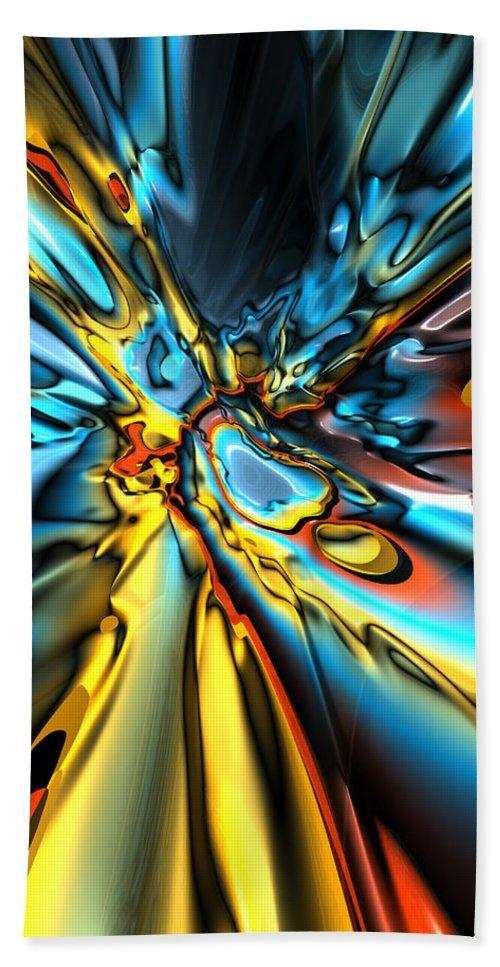 Abstract Hand Towel featuring the digital art Fooonswap 22 by Zac AlleyWalker Lowing