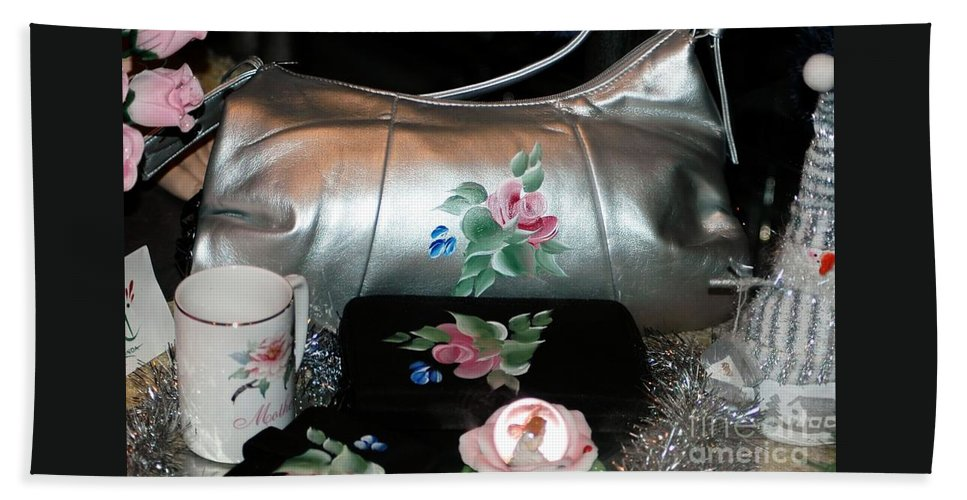 #lady #ladies #woman #woman's #female #purse Bath Sheet featuring the photograph For The Lady In Your Life by Kathleen Struckle