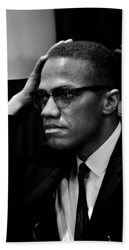 Malcolm X Hand Towel featuring the photograph Forceful Resistance by Benjamin Yeager