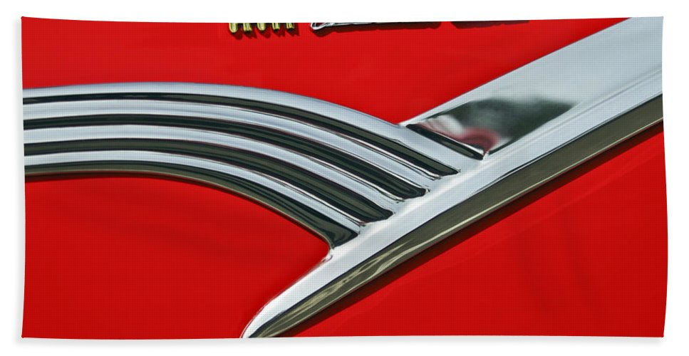 Car Bath Sheet featuring the photograph Ford Crown Victoria Emblem by Jill Reger